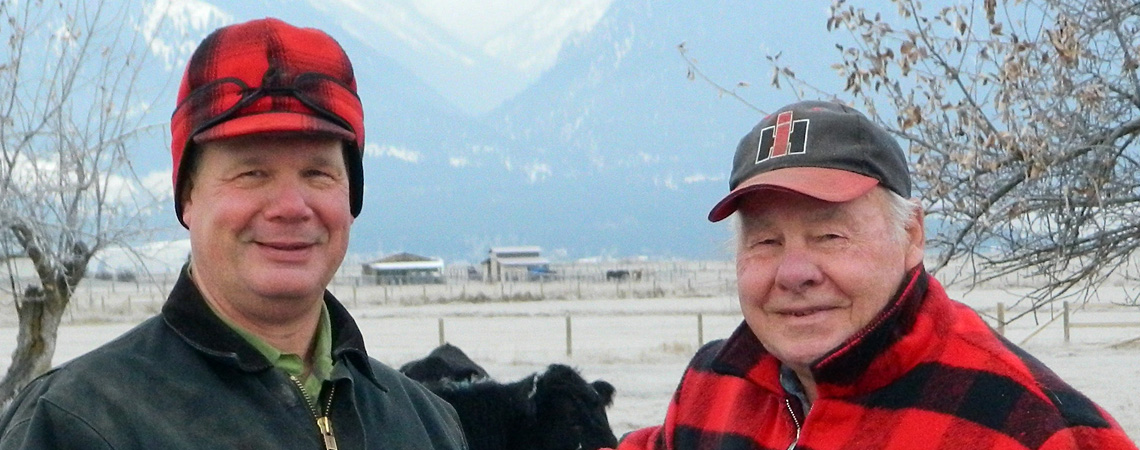 Flying AJ Ranch - two generations with Ron and Arlin Fratzke