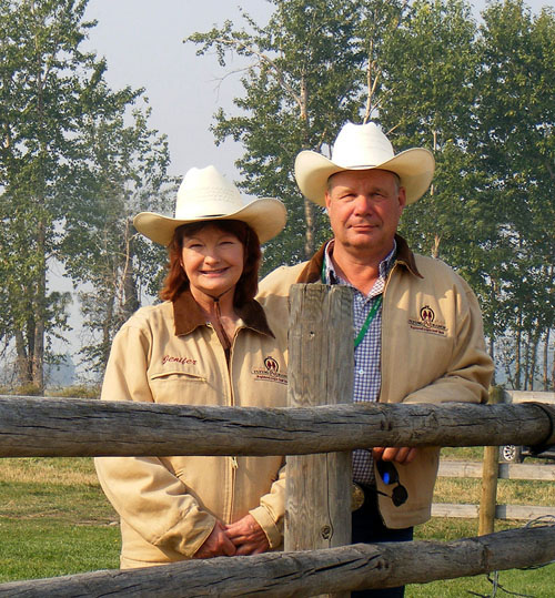 Arlin & Jenifer Fratzke, owners of the Flying AJ Ranch